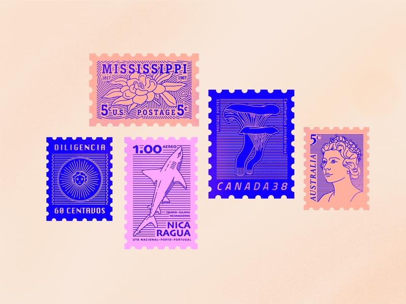 Digital stamp collection pt3 stamp design stamp brushes brush typography design vector procreate illustration illustrator