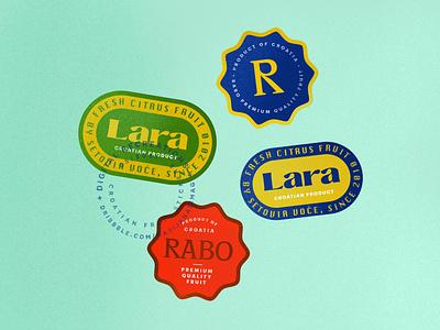 Croatian fruit stickers recreated fruitstickers stickerdesign stickers typography design vector procreate illustration illustrator