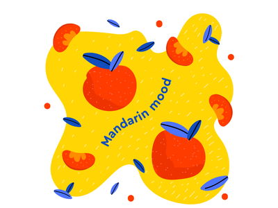 Mandarin new year sweet flatdesign flat mood colorful oranges mandarin illustration