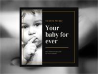 Pub instagram baby V2 [bébé concept]