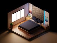 room isometry render minimal 3d blender3d blender room house illustration colors design