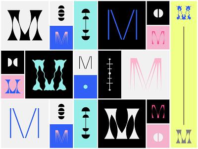 Monograms, monograms everywhere! geometric geometry colorful graphic design letter m logo design logodesign monogram design logos logo monogram logo monogram