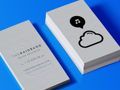 WIP The Rain Band Business Card business card wip logo graphi design branding brand band music