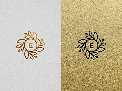 Elaìa - White and Gold mark paper new oil olive simple green logo gold