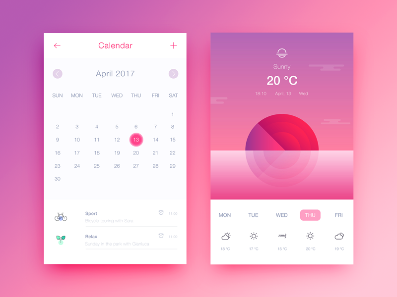 Sunset Calendar by Martina Cavalieri