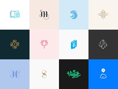 Logo wall brand identity symbol mark series collection logo
