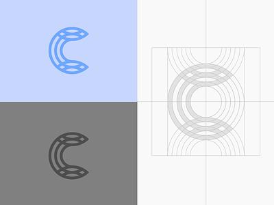 Celdarin — logo grid minimal logomark wellness mark lettermark line graphic design brand letter monogram grid
