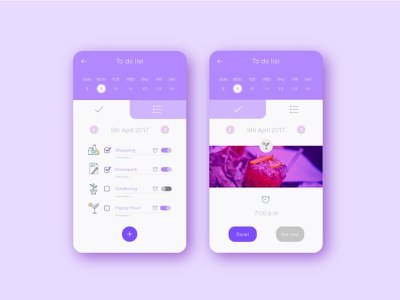 UI shot #5 illustartor graphic appinterface violet todolist app userinterface ux ui