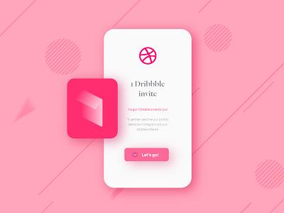 Dribbble Invite app one shot graphic design ui dribbble invite dribbbleinvite