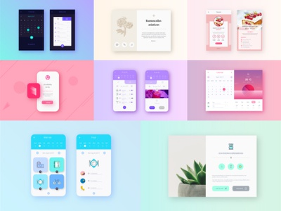 App collection creative graphic colorful uidesign design interface app ux ui