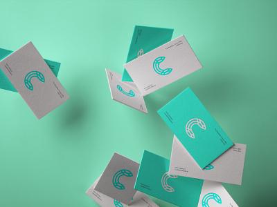 Celdarin letter c aquamarine businesscard graphic identity monogram brand mark logo