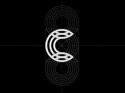 Celdarin logo | Black and white version vector logotype graphic concept symbol letter design monogram black  white identity mark logo