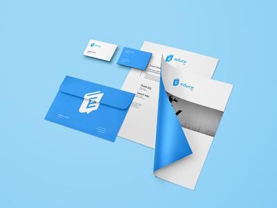 Educe - stationery mockup symbol brand graphic concept identity mark logo
