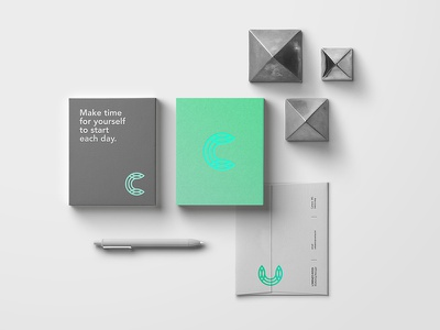 Celdarin green brand design monogram graphic concept identity mark logo