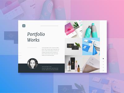Portfolio gradient grid portfolio coloful concept design app graphic ui