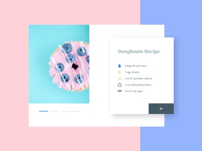 ♥ Donuts coloful icon pink donuts food recipe ui app inteface