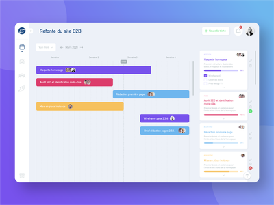 Roadmap Project App planning retroplanning roadmap software design app app webdesign uiux uidesign ui