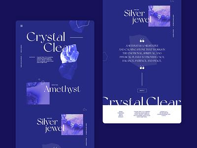 Crystal Clear - Design exploration experiment art direction digital ui design design branding ui webdesign