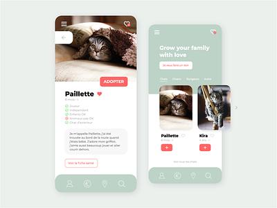 Adopt a cat uxdesign ux ui design adoption animals app design app design ui