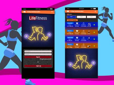 Gym Workout UI