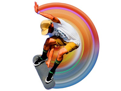 RADIAL SKATE sport circular rings radial skate design graphic  design action photoshop action photoshop actions