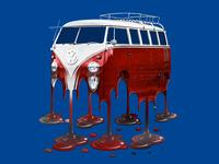 Melting VW Van