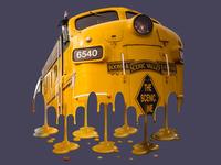 Melting Locomotive