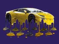 Melting Lamborghini