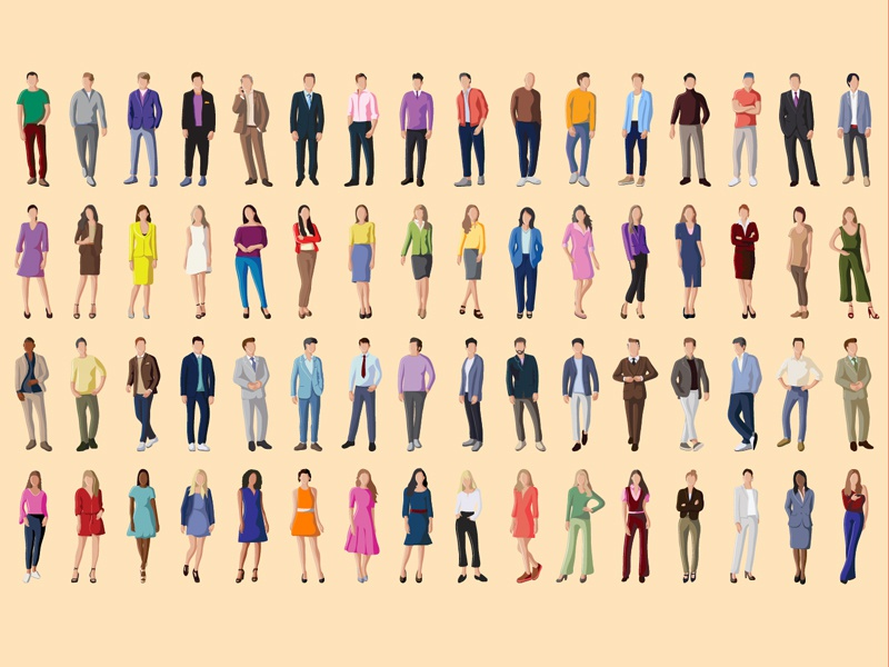 Vector People icons people icons crowd fashion people