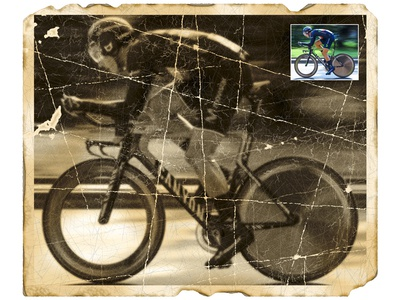 Damaged photo: Bicycle