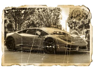 Damage photo: Ferrari