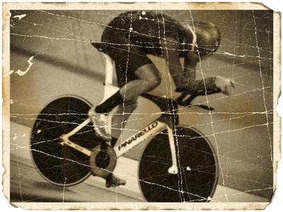 Damaged photo: Cycling