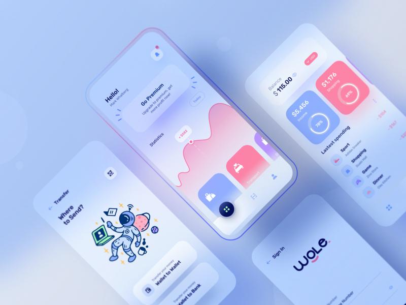 Wale App: A modern looking wallet app