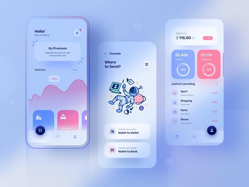 Wale app: A modern looking finance app