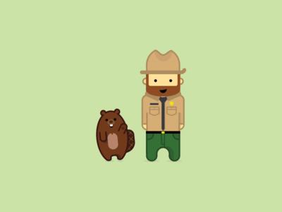 Ranger Rick ranger illustration field guide beaver