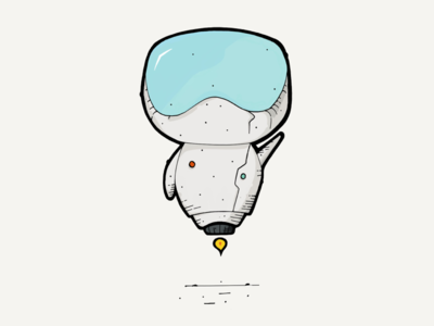Hello ipad draw pencil illustration robot