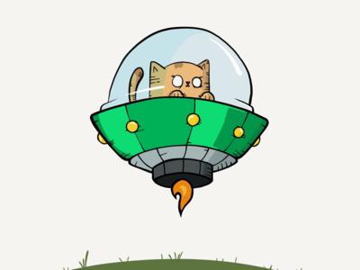 Space kitten ipad pencil draw illustration spaceship space cat kitten