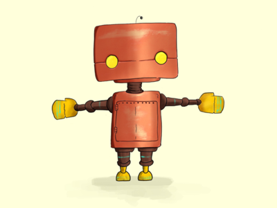 Hugbot pencil ipad illustration robot procreate hug