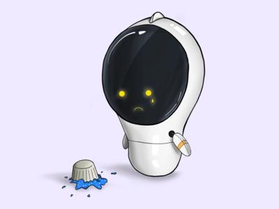 Mondays cupcake robot draw monday