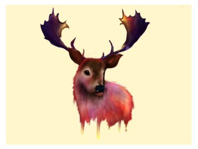 Deer Me painting pencil ipad illustation paint deer