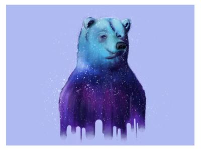 Happy Bear pencil ipad animal bear