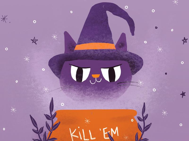 Happy Meowlloween 🎃😼👻 halloween illustration cats cat