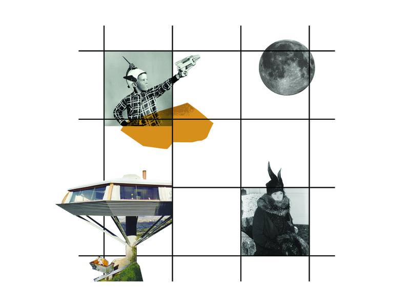 space grid concept drawing space age space grid line digital collage illustration