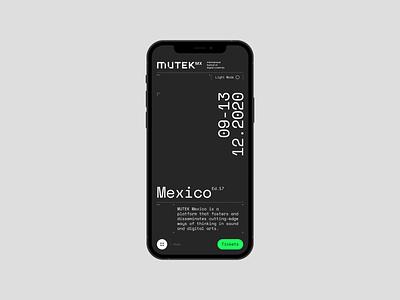 Mutek Concept App clean motion simple mobile interface design concept app ux ui animation