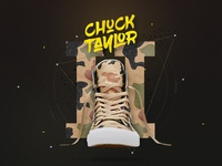 Chuck Taylor by Converse, landing page concept.
