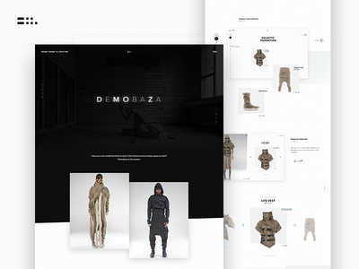 Demobaza Concept - Case Study minimal fashion casestudy interaction motion interface web ux ui design concept