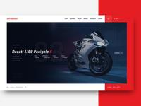 Motorcycle Dealer Homepage Design