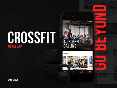 CrossFit Mobile App crossfit motion design interaction ux ui mobile app