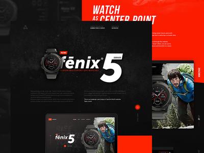 Garmin Fenix5 Watch - Redesign concept