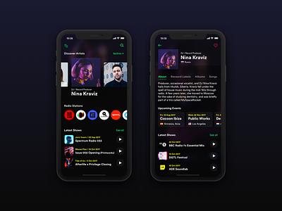 Music Player - Exploration design app ux ui iphone ios mobile player music